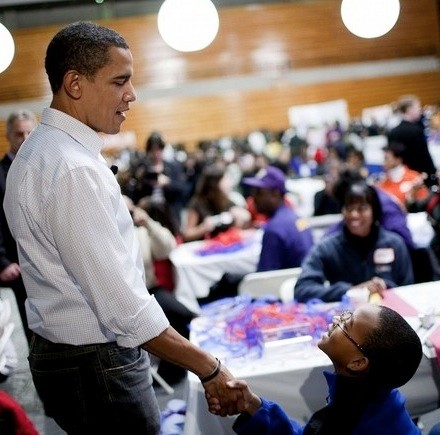 Obama Volunteers During Day Of Service